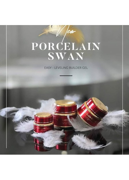 Porcelain Swan Gel Slowianka - Easy leveling Builder Gel Slowianka